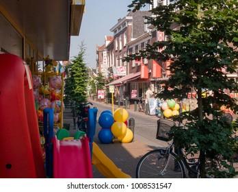 NLD, NIJKERK - JUN 24, 2005 - Shops in the village of Nijkerk, Gelderland, Holland