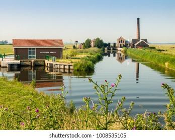 NLD, NIJKERK - JUN 24, 2005 - Pumping-engine at Nijkerk in Holland