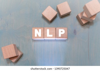 NLP Learning Neuro Linguistic Programming Data concept. Machine deep learning.
