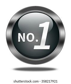 No 1 button isolated
