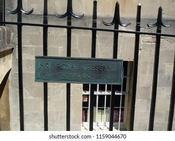The No 1 Royal Crescent, Bath, England, UK