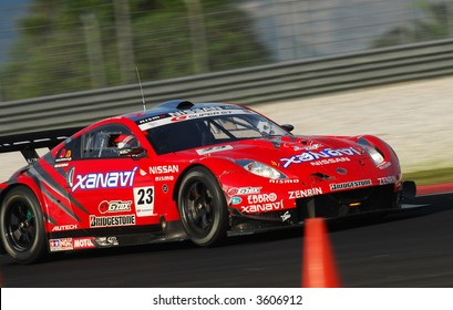 No 23 ofNISMO XANAVI NISMO Z, Satoshi Motoyama & Richard Lyons in action during Japan GT 2007 in Sepang
