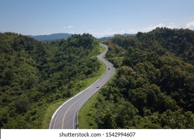 No. 3 road at Nan province of Thailand