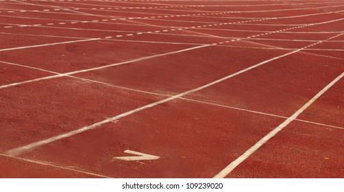No  7 Track in stadium