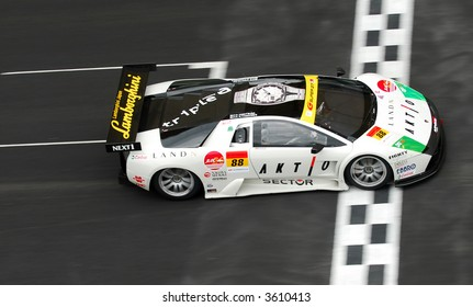No 88 of JLOC AKTIO MURCIE RG-1 Marco Apicella & Koji Yamanishi in action during Super GT 2007 in Sepang