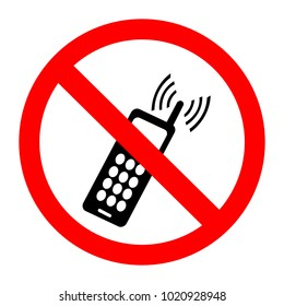 No Activated Mobile Phone. No phones sign in vector depicting banned activities. No mobile phone sign