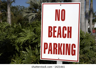 no beach parking sign on captiva island florida united states usa taken in march 2006