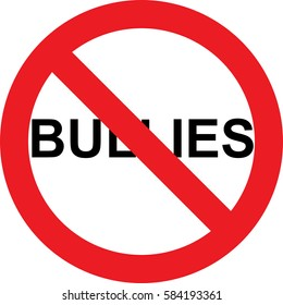 No bullies allowed sign