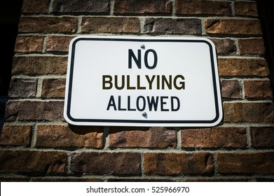 No Bullying Allowed Sign