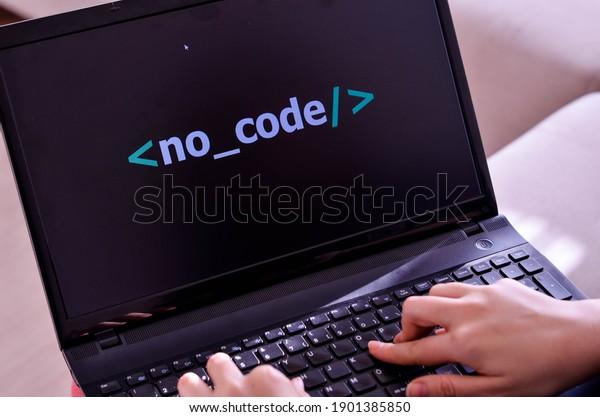 no code development, computer screen