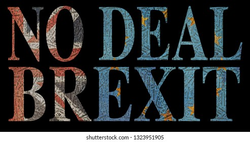 NO DEAL BREXIT made up with  Brexit jargon