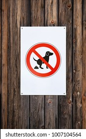No Dog Fouling Sign.  Wooden wall