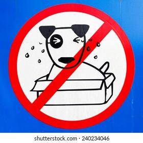 No dog left behind sign