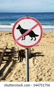 No dogs allowed on the beach