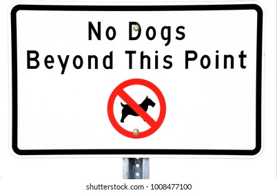 No dogs allowed sign posted on a beach on the Gulf of Mexico at St. Pete Beach, Florida.