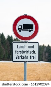 no driving sign except for agriculture