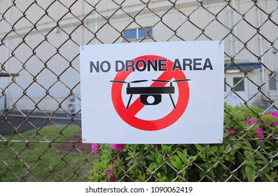 No Drone area sign