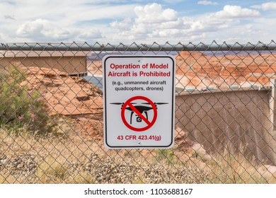 No drone flying near national recreation area glen canyon dam