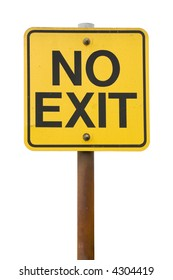 No Exit Sign with white Background