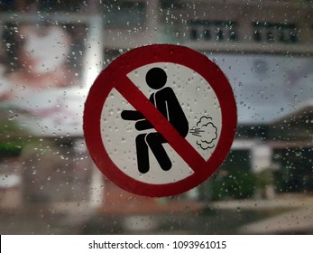 No farting allowed. This sticker was found inside a Bangkok taxi.