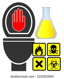 No hazardous materials down the toilet. Do not dump toxic household waste into your septic system
