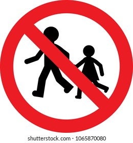 No kids play allowed sign