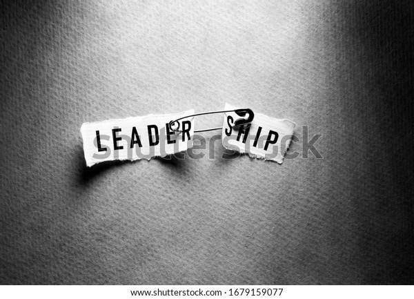 No leadership label tag close up