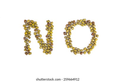 No Letter Made From Green Bean