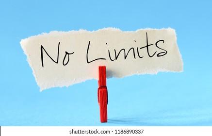 No limits text