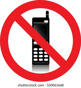 No mobile phones allowed sign