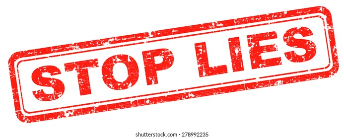 No More Lies Stop Lying Tell Stock Photo (Edit Now) 278992235