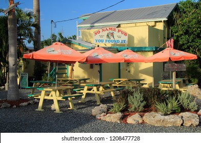 No Name Key, FL – AUGUST 4: Though off the beaten path, the famous No Name Pub is one of the more popular of the numerous eateries found in the Florida Keys August 4, 2018 in No Name Key, FL