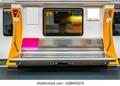 No one inside the subway car