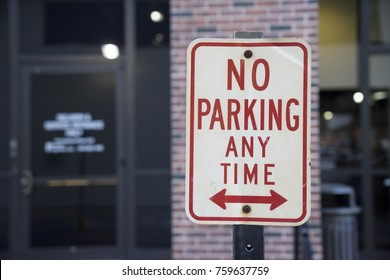 No Parking At Any Time Sign Outside