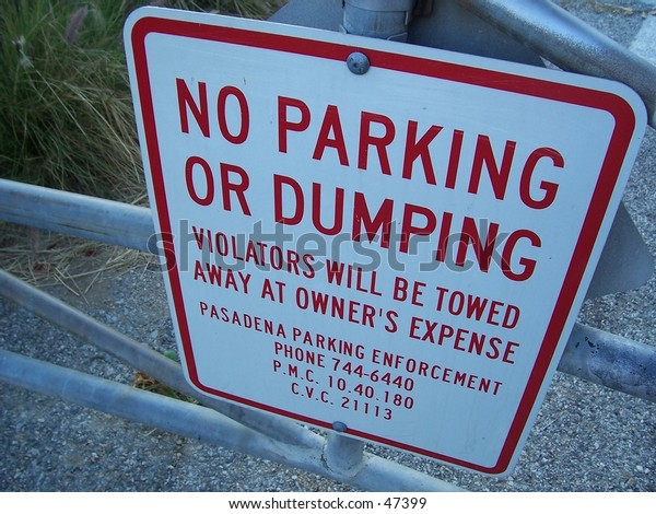 no parking or dumping