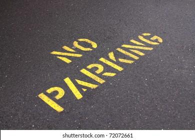 no parking on asphalt