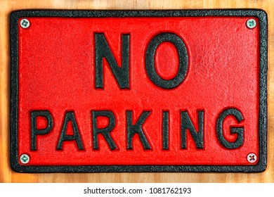 No Parking sign - for driving, parking tickets & traffic issues.