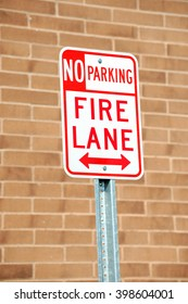 no parking sign at fire lane