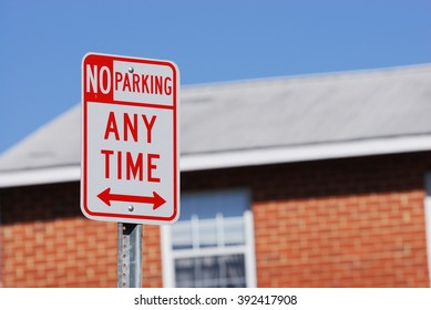 no parking sign in residential area