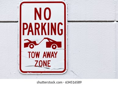 No parking, tow away zone