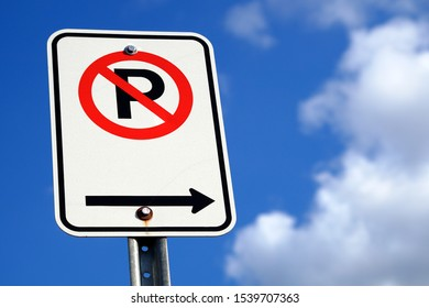 no parking traffic law sign forbidden blue sky