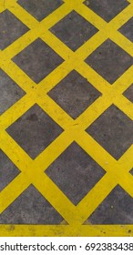 No parking yellow cross zone background