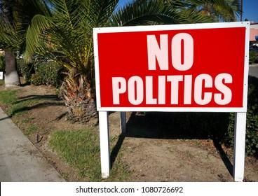 no politics sign