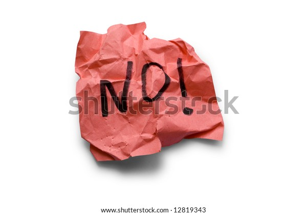 no, protest on paper note