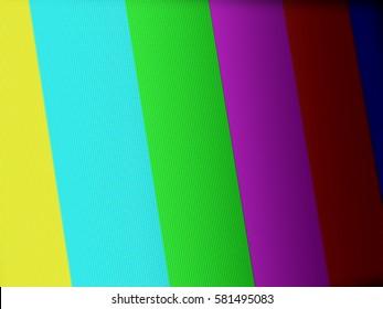 No signal on LCD screen. Closeup image.