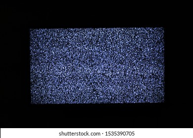 No signal on television monitor, Static noise bad tv black and white