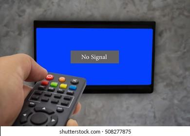 No signal television.