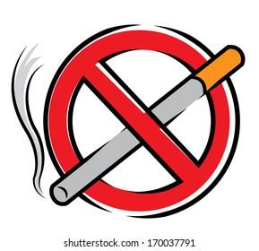 No Smoking Cartoon Illustration