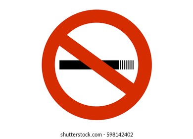 No smoking cigarette prohibited sign