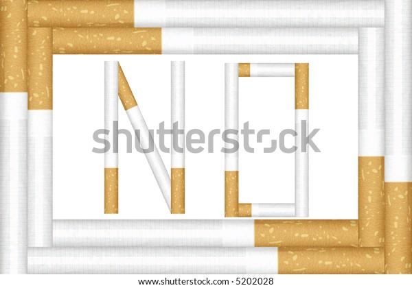 No smoking frame